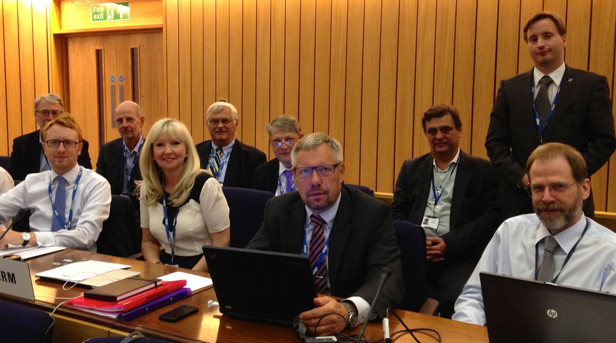 Some of the CIRM delegation at IMO 2014.jpg