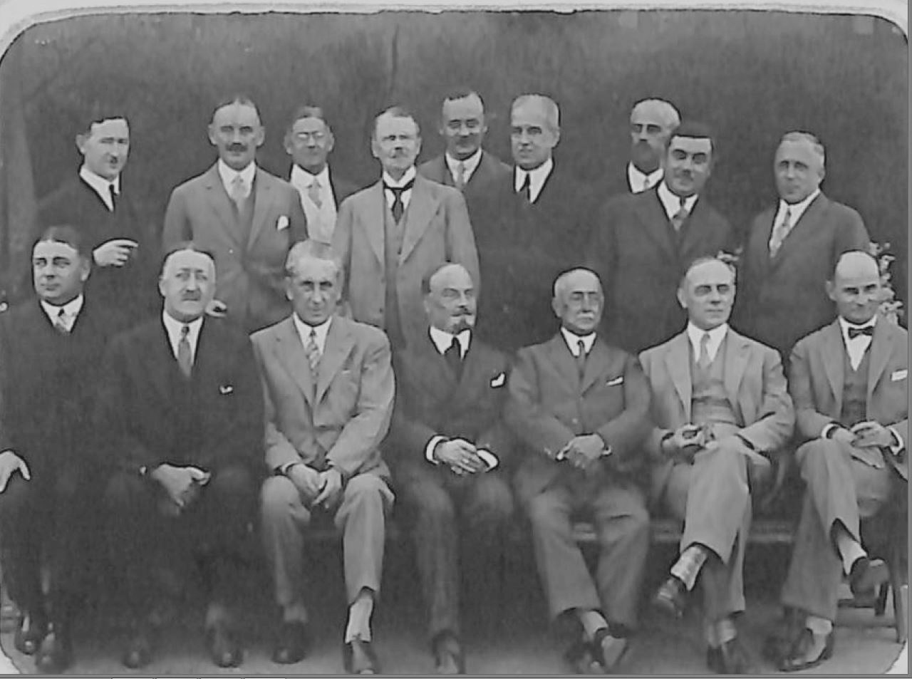 Delegates at the first meeting of CIRM at San Sebastian in 1928